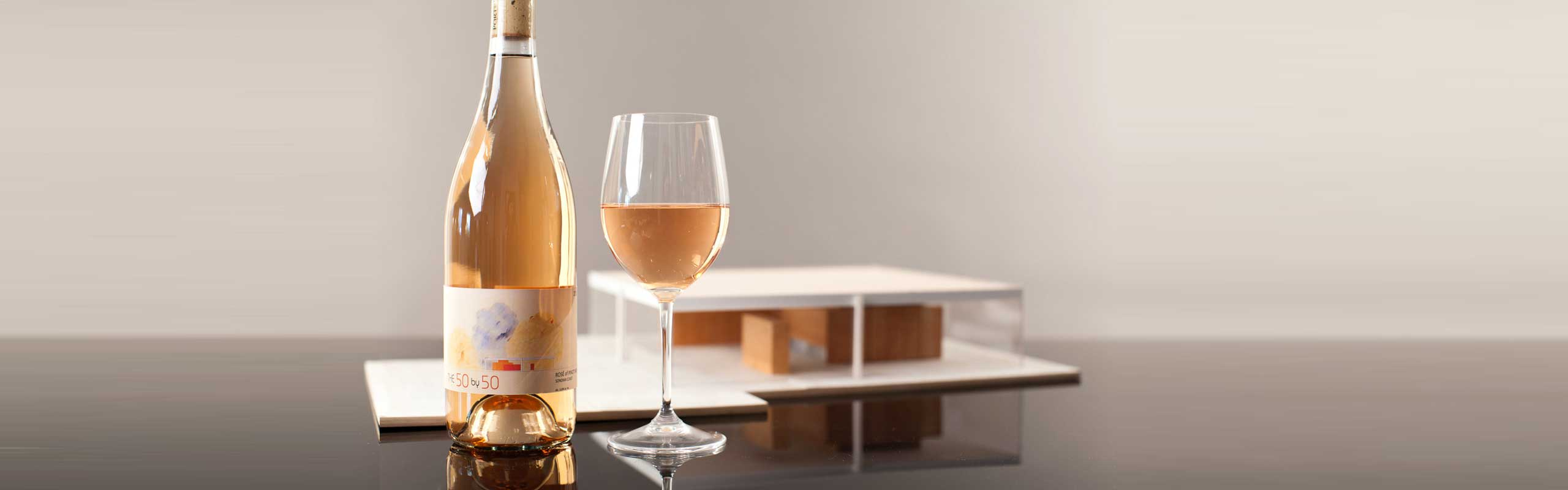 The 50X50, 2015 Rosé of Pinot Noir, and the 50X50 house model